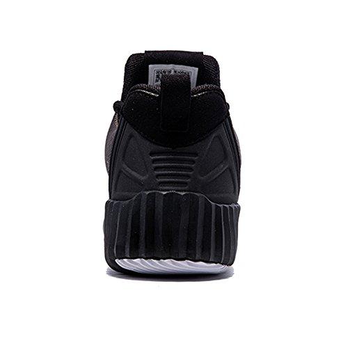 Onemix Scarpe Da Corsa Da Uomo E Da Donna Jogging Walking Sneakers Grigio Blcak