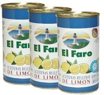 El Faro Olive Stuffed with Lemon 12 oz Imported from Spain Pack of ()
