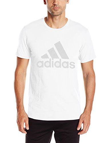adidas Mens Badge of Sport Pattern Logo Tee
