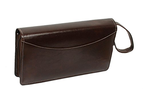 766f4ac74 Multiple Cheque Book Holder with Wrist Loop RFID Safe (Luster Coffee  Brown). by Sukesh Craft