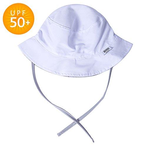 Qossi UPF 50+ Toddler Sun Protection Floppy Hat Brim Bucket Baby Sun Blocking Hats