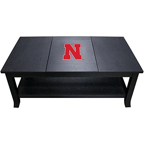 Imperial Officially Licensed NCAA Furniture: Hardwood Coffee Table, Nebraska Cornhuskers