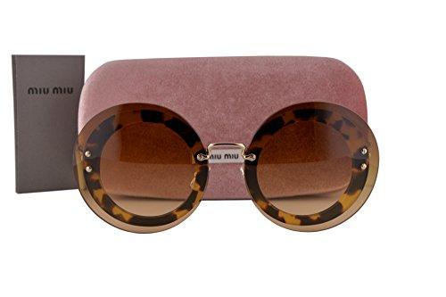 - Miu Miu MU10RS Sunglasses Light Havana w/Brown Gradient Lens 7S01G0 SMU10R