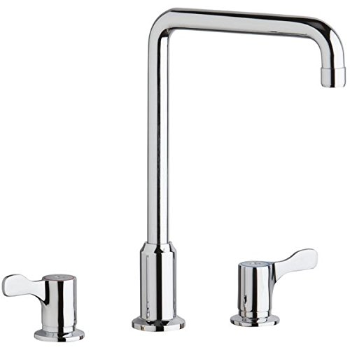 - Elkay LKD2432C Chrome Concealed Deck Mount Faucet with ArcTube Spout and 2-5/8