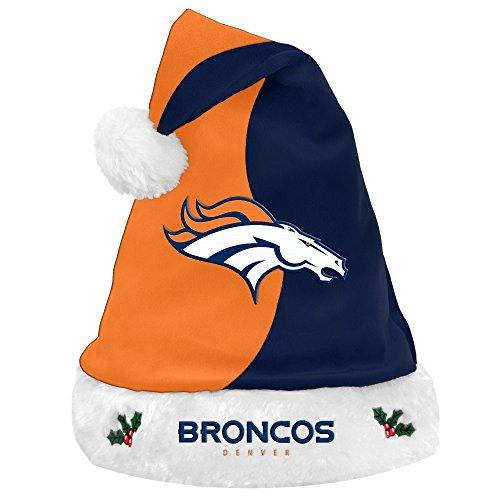 Denver Broncos 2017 NFL Basic Logo Plush Christmas Santa Hat ()
