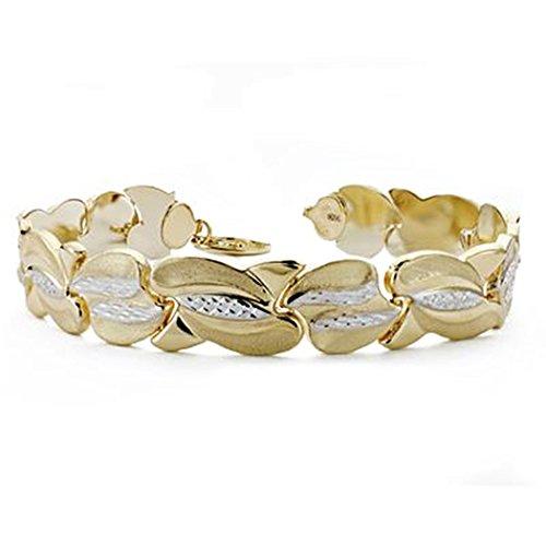 18k or estampage bracelet 19.5cm. [AA0137]
