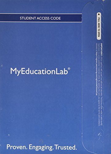 NEW MyEducationLab with Pearson eText -- Standalone Access Card -- for Child Development and Education