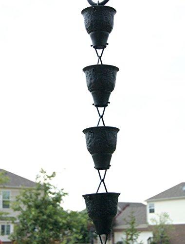 U-nitt 8-1/2 feet Rain Chain: Embossed Sunflower Aluminum 8.5 ft Length #5502A