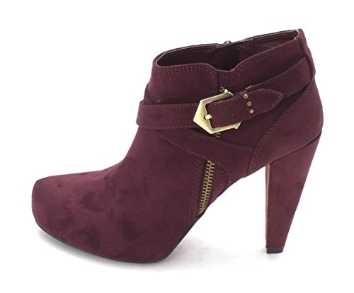 G by GUESS Womens Taylin2 Closed Toe Ankle Fashion Boots, Purple, Size 7.5