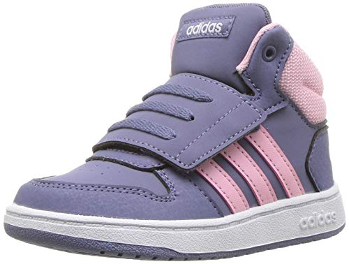 adidas Baby Hoops 2.0, raw Indigo/True Pink/White, 5K M US Toddler