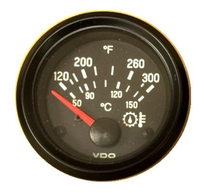 Wiring For The Oil Temperature Gauge Left To Right Vdo Manual Gauge on