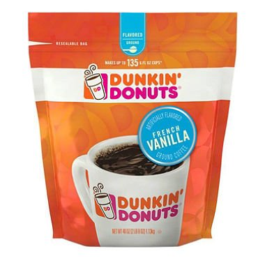 Dunkin' Donuts Ground Coffee, French Vanilla (40 oz.)ES