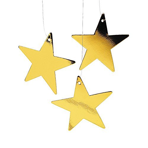 Fun Express Gold Star Decor (1 -