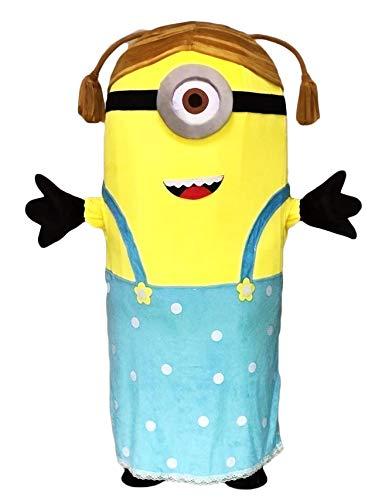 rushopn Crazy Me Minions Despicable Me Female Minions Stuart Mascot Costume ()