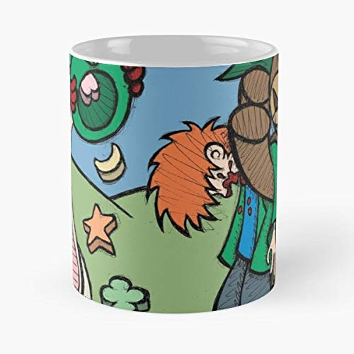 Teddy Bear And Bunny Brett Gilbert - Morning Coffee Mug Ceramic Best Gift