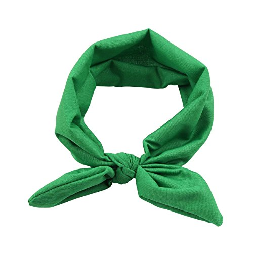 - Kewl Fashion Baby Girl's Toddler Bow Headbands Turban Knot Rabbit Hairband Headwear (Green)