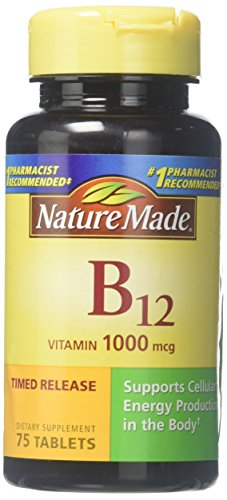 (2 Pack) Nature Made B-12 Timed Release, 1000mcg, 75 Tablets each