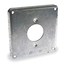 Steel City 478 Pre-Galvanized Steel Square Box Surface Cover with 4-Wire Twist Lock Device