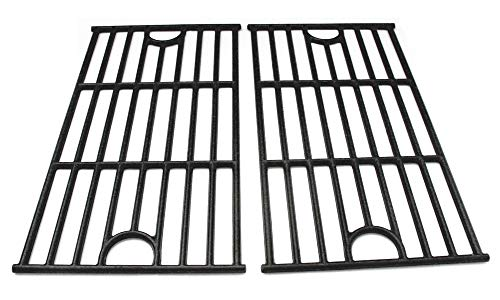 (Hongso PCA312 Universal Gas Grill Grate Cast Iron Cooking Grid Replacement, Master Forge SH3118B Matte cast Iron Cooking Grid, Sold as a Set of 2)