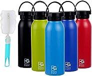 BOGI 20oz Insulated Water Bottle Double Wall Vacuum Stainless Steel Sports Water Bottle Leak Proof Standard Mo