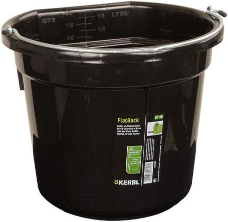 KERBL FlatBack Seau pour Cheval Noir 20 L