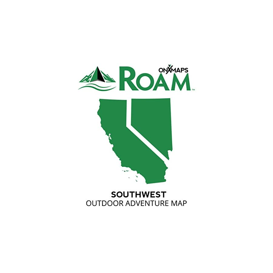 onXmaps ROAM Southwest: Digital Recreation Map for Garmin GPS Color Coded Land Ownership 24k Topo Roads and Trails Covers California and Nevada