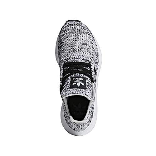adidas Originals Kids Boy's Swift Run J (Big Kid) Grey/Black 6.5 M US Big Kid M