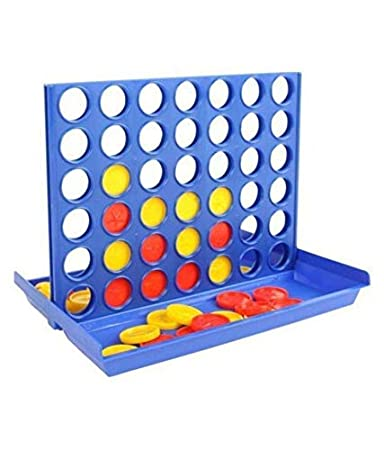 Tokariwala---Portable Travel Plastic Line-up 4 Connect Four in a Line 4-1 Row Bingo Game Board Game----Pack of 1