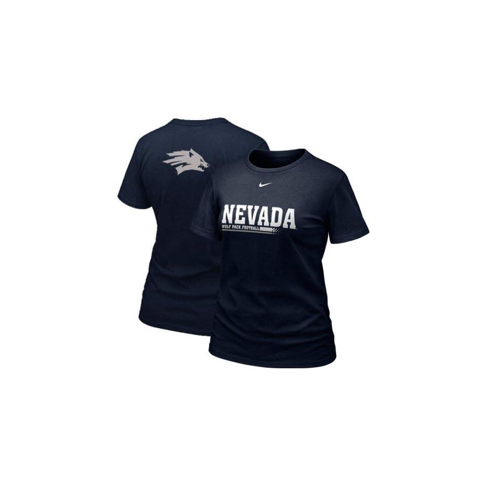 Nike Nevada Wolf Pack Ladies Practice T shirt  Navy Blue