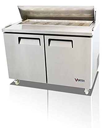 Amazoncom Vortex Refrigeration Commercial Door Mega Top - Commercial sandwich prep table