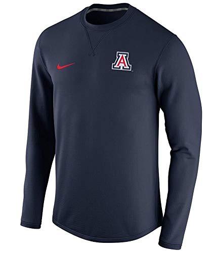 Nike Mens Navy Blue Arizona Wildcats Modern Crew Neck Sweatshirt (Large)