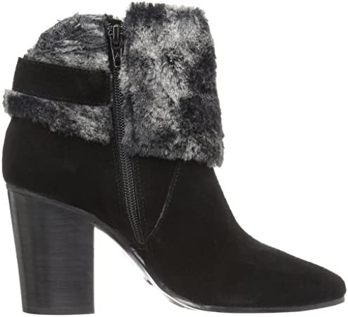 Aerosoles Women's North Square Ankle Boot, Black Suede, 6 M US