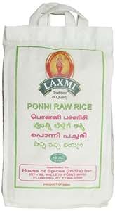 Laxmi Ponni Raw Rice, 10 Pound