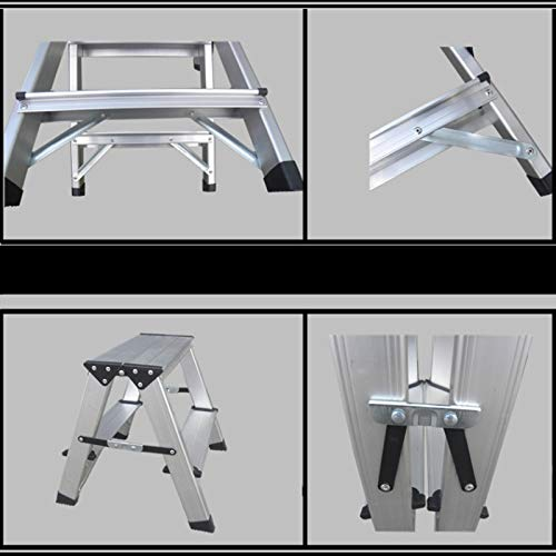 LXF Step stool Step Stool Household Folding Step Stool Aluminum Alloy Kitchen Living Room Bedroom Multifunction Small Ladder Chair by Step stool (Image #5)