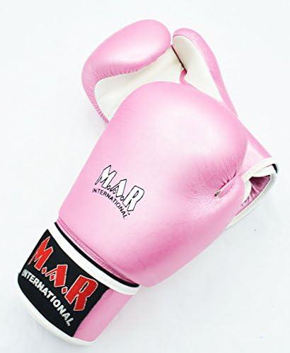 Thumb Lock Design Rex Leather M.A.R International Ltd Designer Union Jack Boxing//Kickboxing//Thai Boxing Gloves with Moulded Foam Padding 2oz /– 16oz