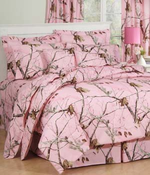 Drapes Rod Lodge Pocket (Realtree AP Pink Camo 3 Pc TWIN Comforter Set and One Window Valance/ Drape Set (Comforter,1 Sham, 1 Bedskirt, 1 Valance/Drape Set) SAVE BIG ON BUNDLING!)
