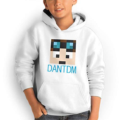 (Don Washington DanTDM Face Teen Hoodies Fashion Sweatshirts Pullover White)