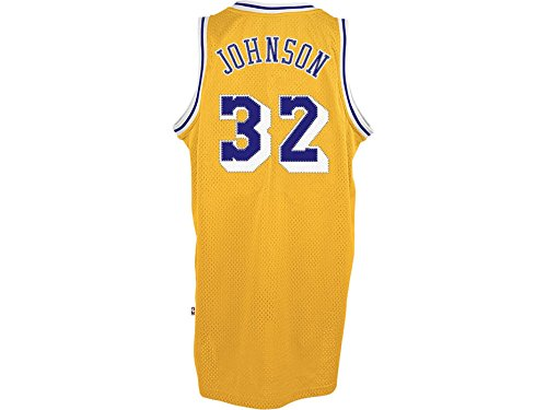 Adidas Lakers Jersey (adidas Magic Johnson Los Angeles Lakers Gold Throwback Swingman Jersey Large)