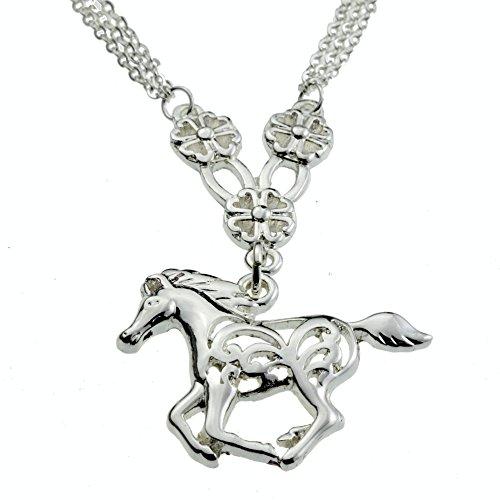 Flower Horse Silver Pendant My Little Pony