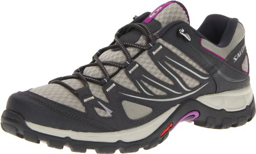 Salomon Women's Ellipse Aero W Hiking Shoe,Dark Titanium/Black/Anemone Purple,8.5 M US