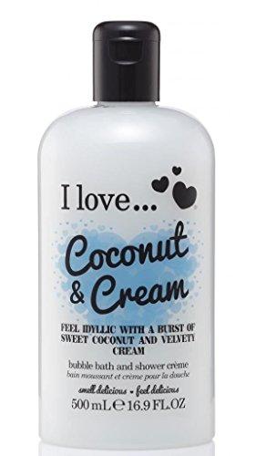 (I Love... Coconut & Cream Bubble Bath And Shower Creme 500ml )
