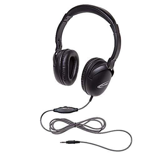 Califone 1017AV NeoTech Plus 1017AV Headphone, 3.5mm Plug, Black