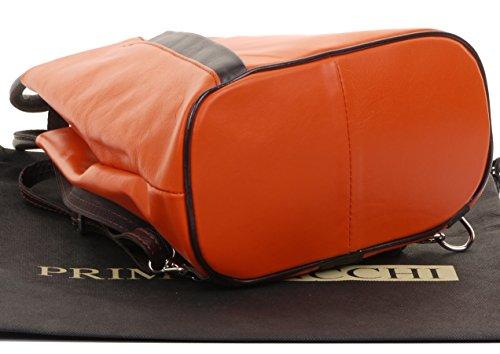 à étui bandoulière à Italienne amp; sac douce cuir protecteur sac à Napa poignée Orange sac marque Brun dos supérieure dos Foncé nbsp;Comprend Y0zZqnS0