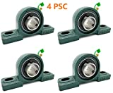 4PSC of UCP205-16 Cast Iron Pillow Block Mounted Bearings-1' Inch Inside Diameter w/Set Screw Loc