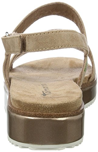 Tamaris Women's 28153 Wedge Heels Sandals Brown (Antelope 375) p5YBeE