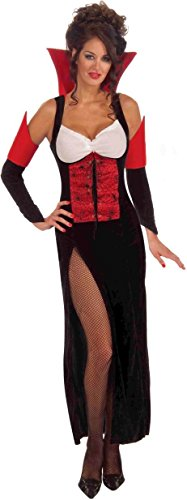 Forum Novelties Women's Countess Crypticia Temptress Costume, Black/Red, One (Countess Dracula Costume)