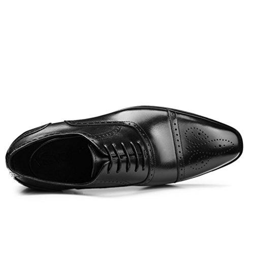 MSM4 Black Scarpe in Scarpe Autunno Primavera da Pelle Business Uomo Primavera Fashion e rrnSZx