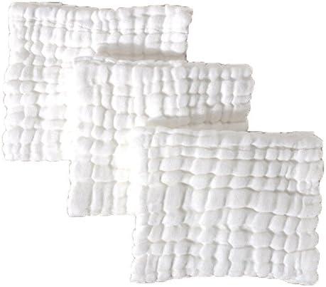 Paquete de 6 pañuelos/toallas/baberos de 100 % algodón, ultrasuaves para recién nacido o niño blanco 5 Pack 6-Ply White: Amazon.es: Bebé