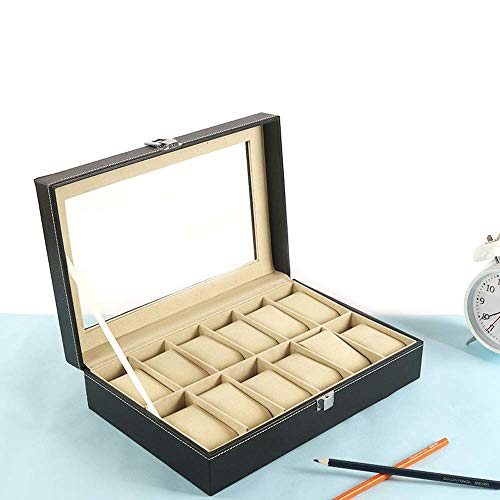 Other 12 Grid Leather Watch Display Case Jewelry Collection Storage Organizer Box Holder        Amazon imported products in Pakistan