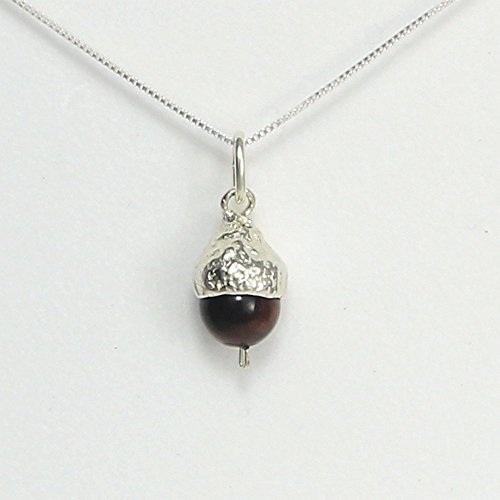 acorn-necklace-small-peter-pan-kiss-you-have-potential-silver-and-red-tigers-eye-handcrafted-in-usa-